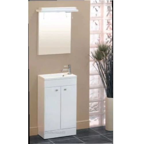Eastbrook Oslo 2 Drawer Floor Standing Vanity Unit - Right Handed - 300mm Wide - White